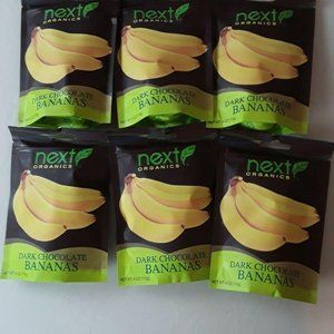 Lot Of 6 New Next Organics Dark Chocolate Bananas